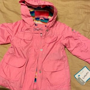NWT Carter's Kitty fleece rain coat 12mo